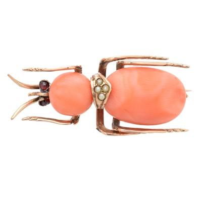 Lot 23-A coral bug brooch