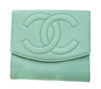 Lot 14-A Chanel Trifold Flap Wallet