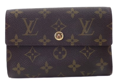 Lot 27-A Louis Vuitton Monogram Trifold Wallet