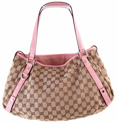 Lot 28-A Gucci monogram canvas Abbey Hobo handbag