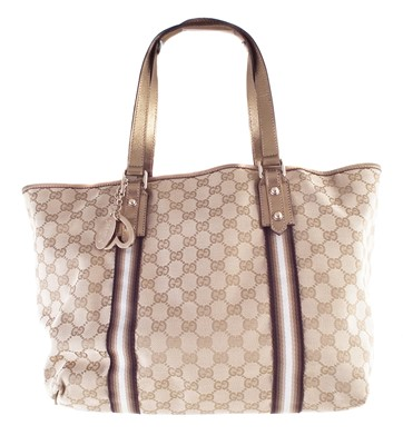 Lot 53-A Gucci monogram canvas Jolicoeur Tote handbag