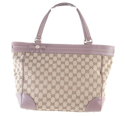 Lot 66-A Gucci monogram canvas Mayfair Tote handbag
