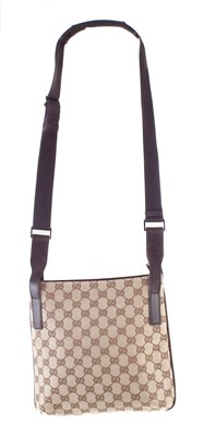 Lot 38-A Gucci monogram canvas Messenger Crossbody shoulder bag