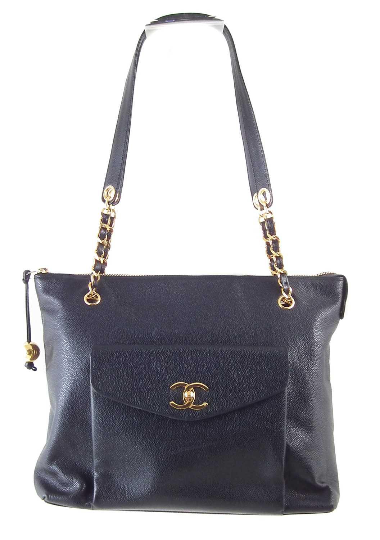 Lot 85 - A Chanel CC Turnlock Shopping tote handbag