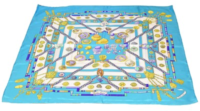 "Lot 42-A Hermès ""Petite Main"" silk scarf by Cathy Latham"