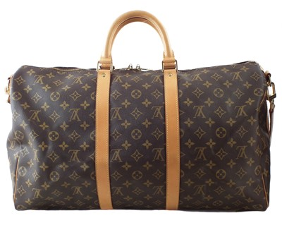 Lot 92-A Louis Vuitton monogram Keepall Bandoulière 50 luggage bag