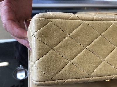 Lot 48-A rare Chanel medium double flap handbag