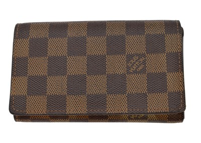 Lot 32-A Louis Vuitton Damier Ebene Porte-Monnaie Billets Tresor wallet