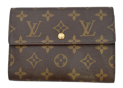 Lot 54-A Louis Vuitton Monogram Porte-Tresor Etui Papier wallet