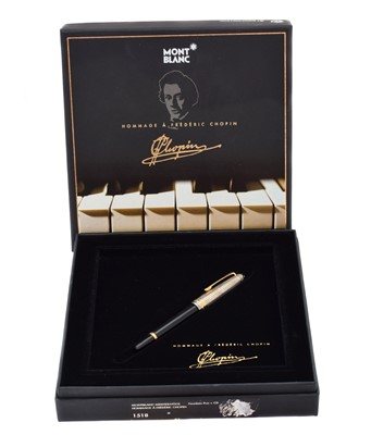 Lot 119 - Montblanc Meisterstuck  Homage to Frederic Chopin fountain pen.