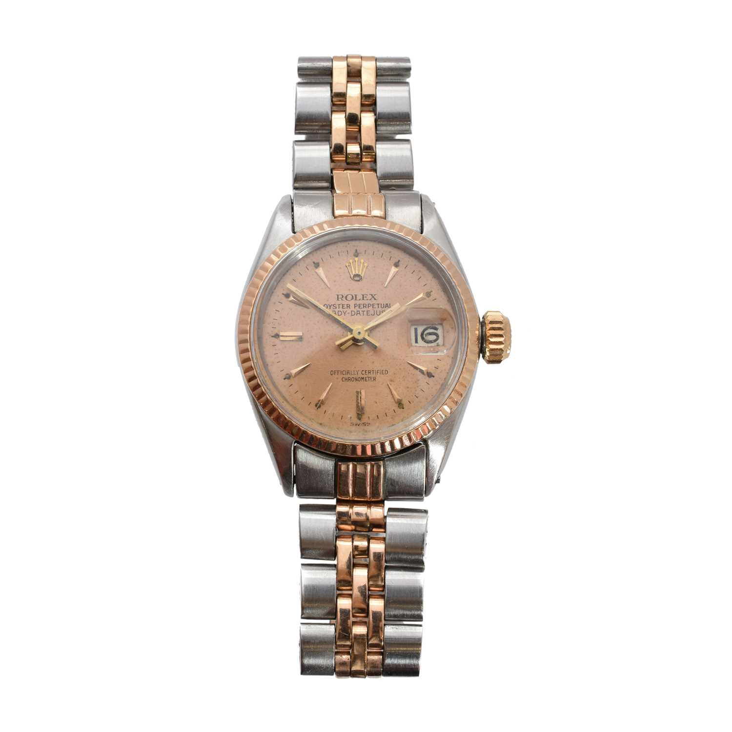 Lot 262-A ladies steel and gold Rolex Oyster Perpetual Lady Datejust wristwatch