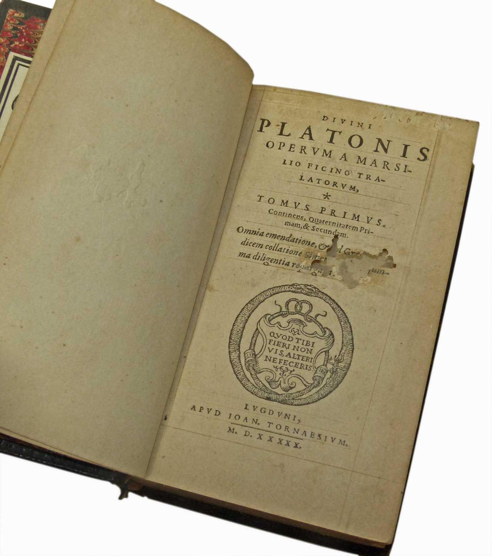 Lot 44-Platonis Opera, Primus Quintus, 1550.