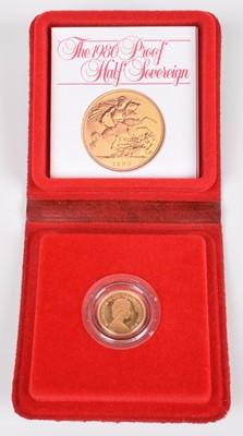 Lot 91-1980 Royal Mint, Proof Half-Sovereign.