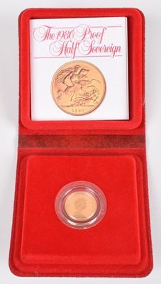 Lot 92-1980 Royal Mint, Proof Half-Sovereign.