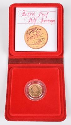 Lot 93-1980 Royal Mint, Proof Half-Sovereign.