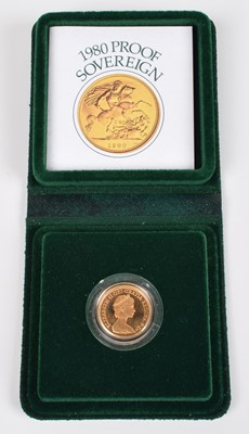 Lot 94-1980 Royal Mint, Proof Sovereign.
