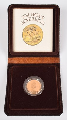 Lot 95-1981 Royal Mint, Proof Sovereign.