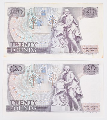 """Lot 33-Two Bank of England, Series """"D"""" Pictorial Issue banknotes (2)."""