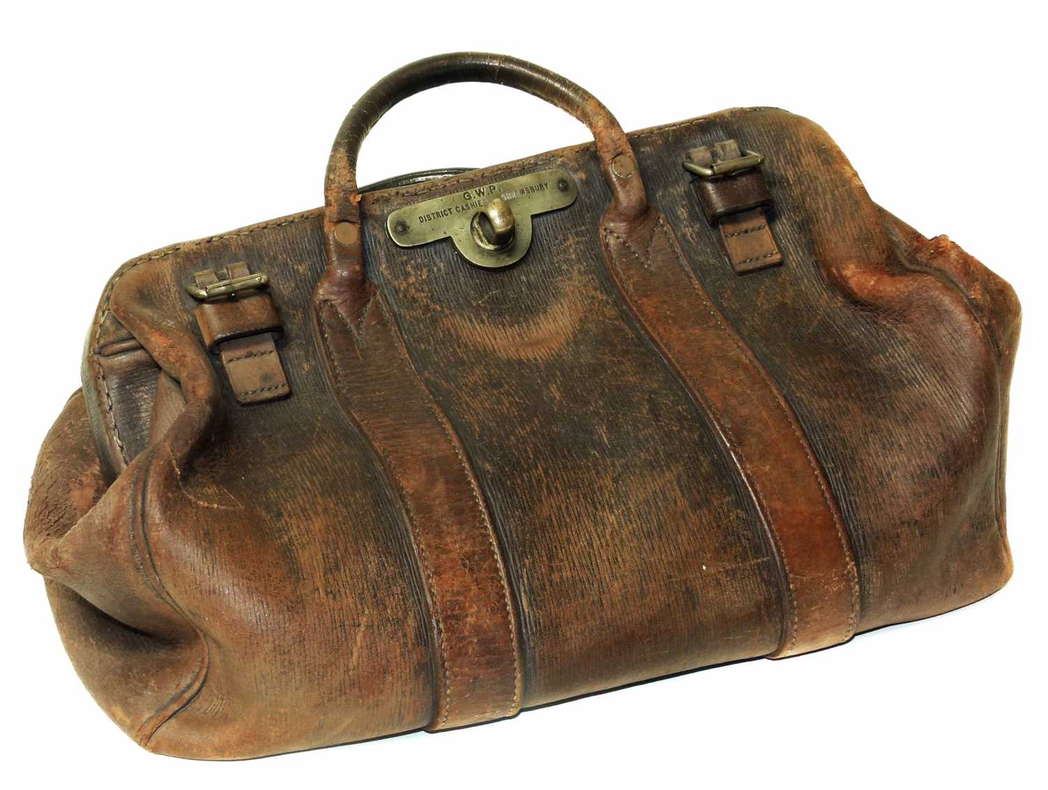 Lot 20-GWR leather Gladstone bag