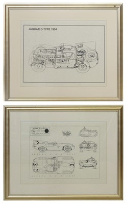 Lot 16-Two prints cutaway drawings.