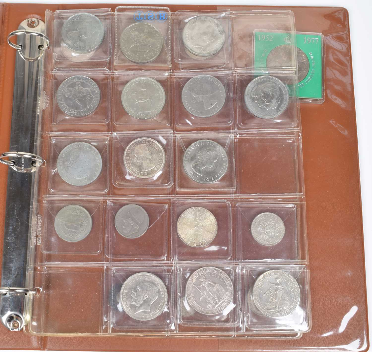Lot 47-Folder of assorted British coinage to include Queen Victoria, Florin etc.
