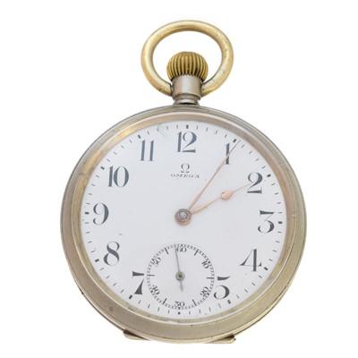 Lot 84 - An Omega open face pocket watch
