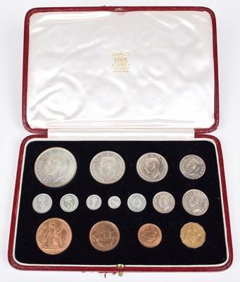 Lot 86-A Royal Mint George VI 1937 Specimen Coin set.