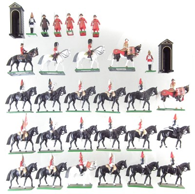 Lot 61-Seventeen Britains mounted Life Guard toy soldiers