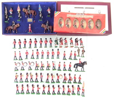 Lot 13-Britains Toy Soldiers Honorable Artillery Company boxed set, also a set of highlanders and sixty three other British infantry