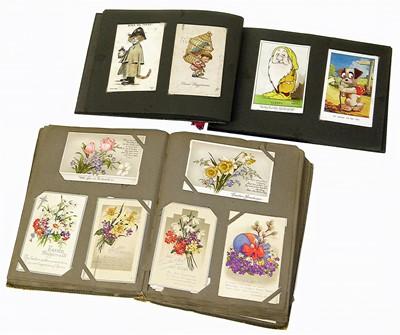 Lot 96-Vintage Edwardian postcard collection in 2 albums
