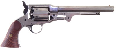 Lot 17-Euro Arms Rogers and Spencer black powder revolver and accessories.