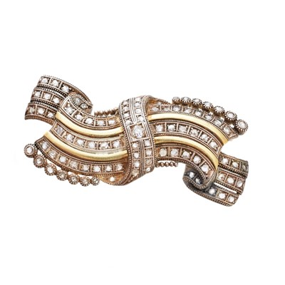 Lot 26 - A mid 20th century diamond spray brooch