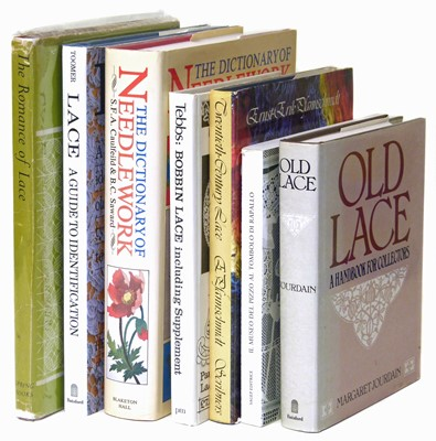 Lot 56-Seven Modern Reference Books  on the subject of  Lace, Bobbin Lace & Needlework