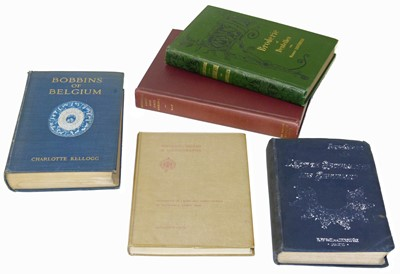 Lot 67-Five Refrence Books on European Lace, Embroidery & Dentelles