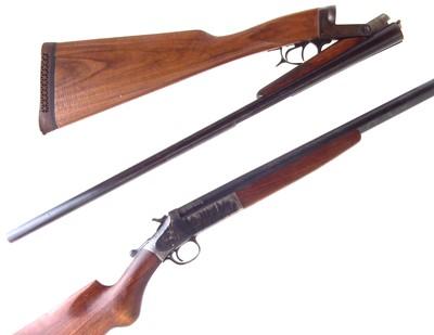 Lot -Two Shotguns, Harrington and Richardson single barrel and a folding side by side by Bernardelli