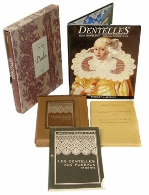 Lot 63-Three Refrence books on the subject of Dentelles
