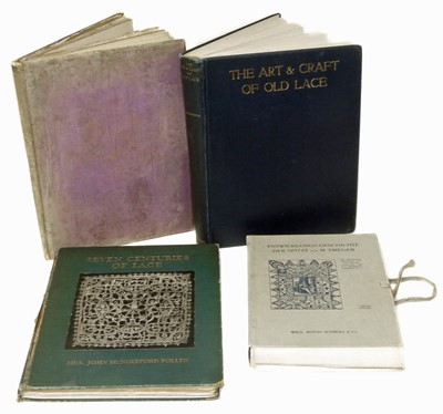 Lot 57-Four Reference Books on the Subject of Lace