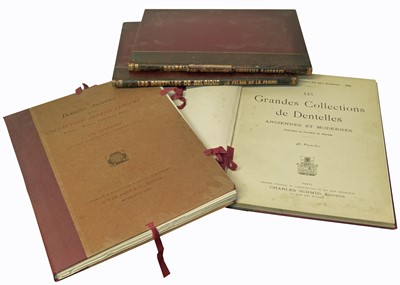 Lot 66-Four early 20th Century French Reference Books on the Subject of Dentelles