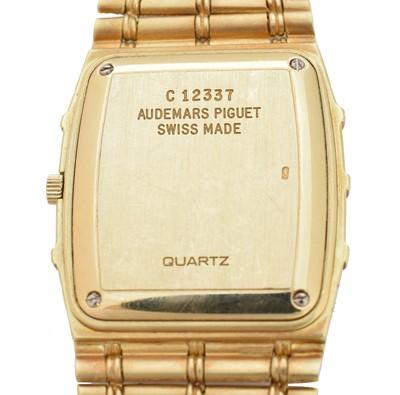 Lot -An 18ct gold diamond Audemars Piguet wristwatch
