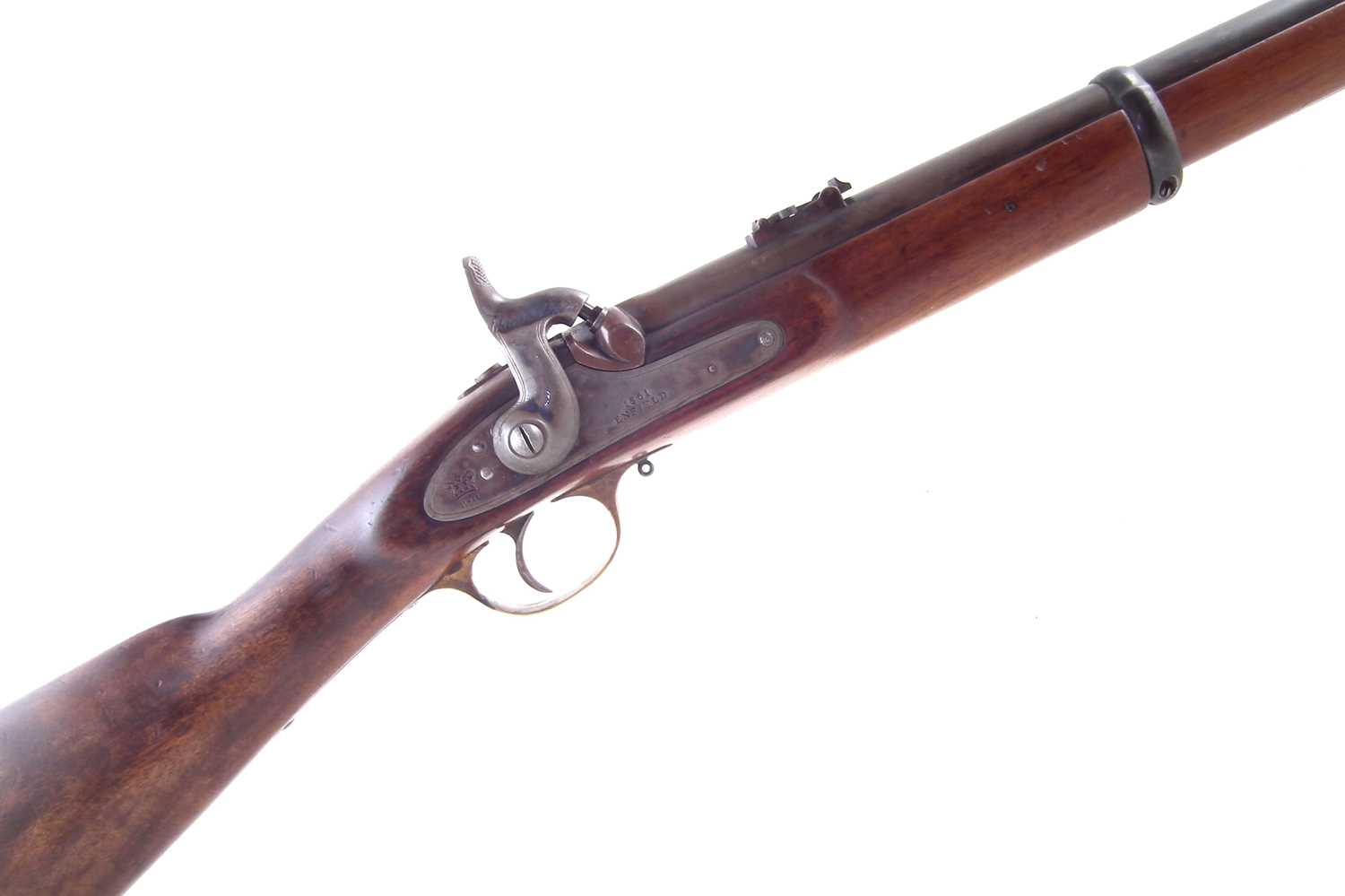 Lot 77 - Parker Hale Enfield .577 rifled carbine with Pedersoli sizing die and mould.