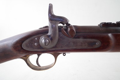 Lot 77-Parker Hale Enfield .577 rifled carbine with Pedersoli sizing die and mould.