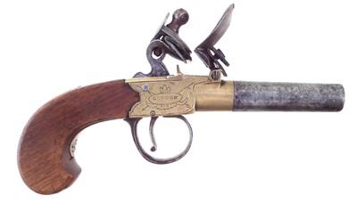 Lot 24-Flintlock pocket pistol