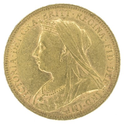 Lot 79-Queen Victoria, Sovereign, 1893, London Mint.