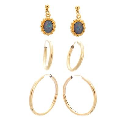 Lot 48-A selection of earrings