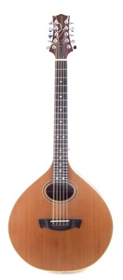 Lot 10-Oakwood Cittern with case
