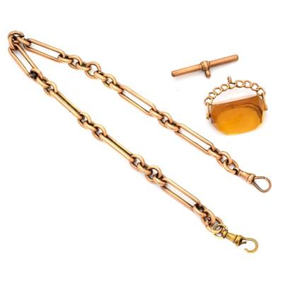 Lot 58 - A 9ct gold Albert chain