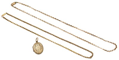 Lot 83 - Two chain necklaces