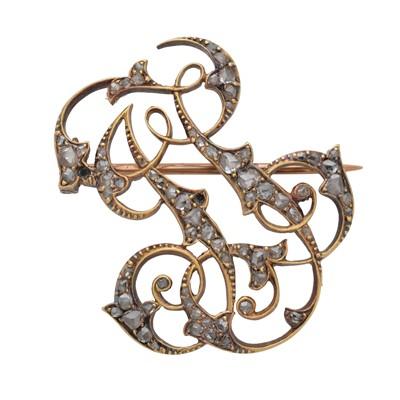 Lot 54 - A late 19th century diamond brooch