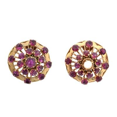 Lot 74 - A pair of ruby earrings