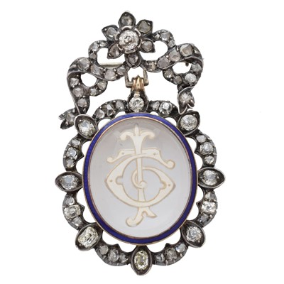 Lot 40 - A late 19th century diamond and rock crystal brooch